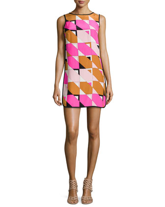 Nell Geometric-Print Dress