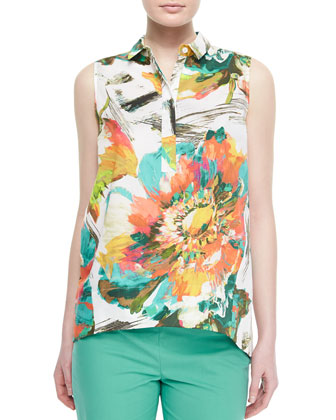 Sleeveless Vinda Garden Blouse