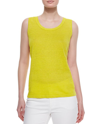 Linen Tank Top, Citron