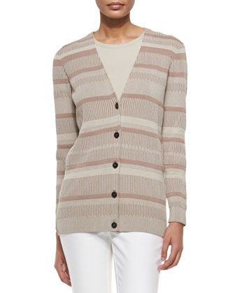 Long-Sleeve V-Neck Cardigan