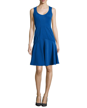 Karen Scoop-Neck Fit & Flare Dress