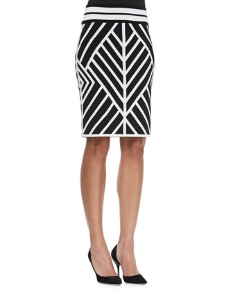 Positive/Negative Reversible Pencil Skirt