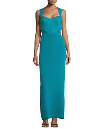 Sleeveless Sweetheart Column Gown