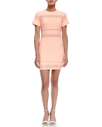 Ari Cutout-Trim Fitted Dress