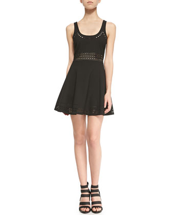 Kenton Sleeveless Cutout A-Line Dress