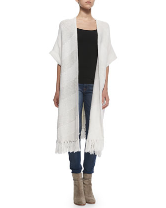 Maverick Short-Sleeve Long Cardigan