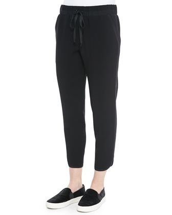 Evelyna Knit Cropped Track Pants