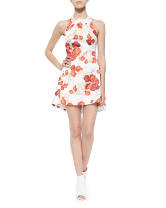 About You Blossom-Print Halter Dress