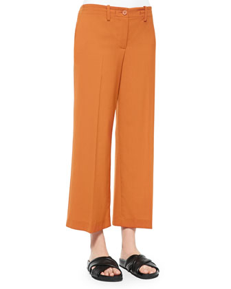 Tennen Wide-Leg Cropped Pants