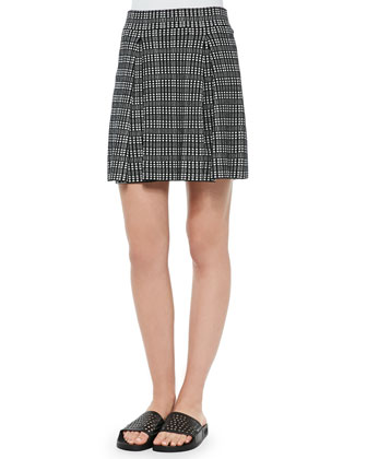 Rortie C Plaid Pleated Skirt