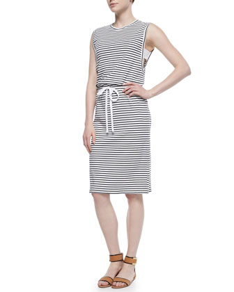 Caneil Striped Drawstring Dress