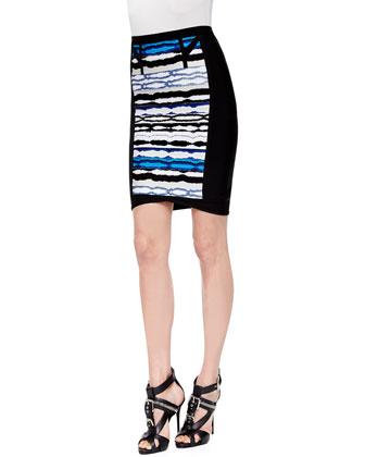 Signature Essential Sleeveless Bandage Top & Vera Striped Ripple Skirt
