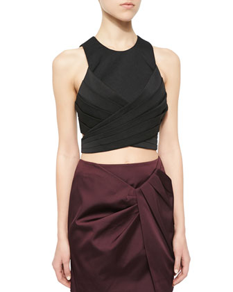 Trails Crop Top with Tie Back & Blessed Pleated Mini Skirt