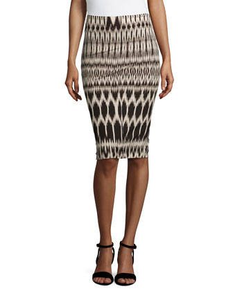 Pilar Temple Printed Pencil Skirt