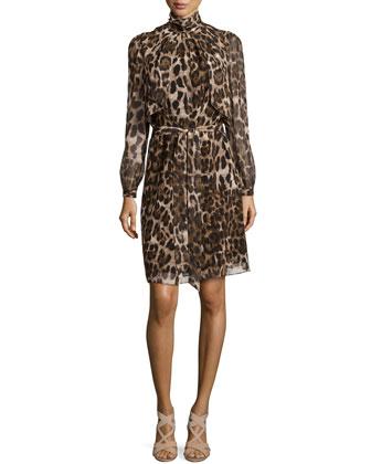 Leopard-Print Soft Day Dress