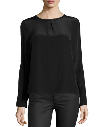Syracuse Silk Top, Black