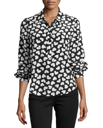 dancing hearts popover shirt