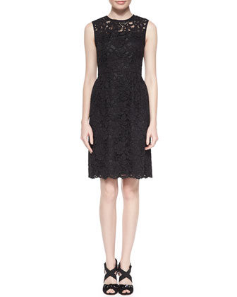 floral lace sheath dress