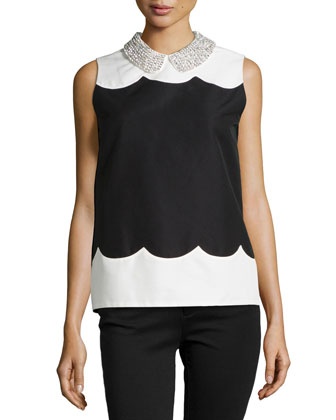 francoise sleeveless colorblock top