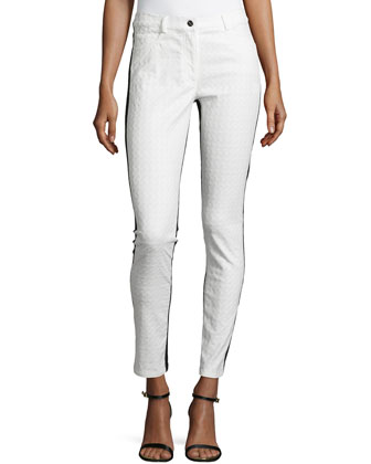 Skinny Combo Pants, White/Black