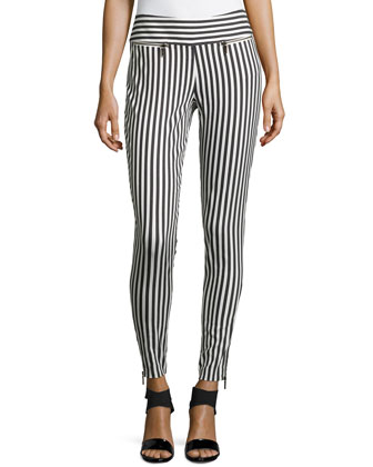 Nina Striped Stretch Pants