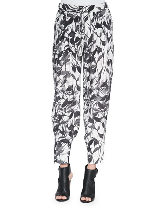 Champ Knit Floral-Print Pants