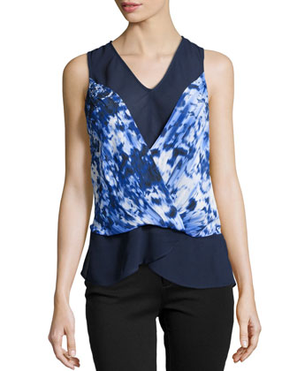Blue Lagoon Georgette Top