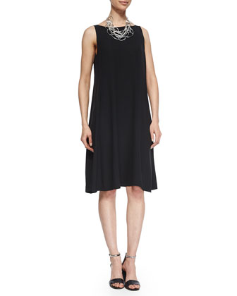 Sleeveless Georgette Shift Dress