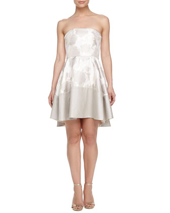 Strapless Fit-and-Flare Dress, French Vanilla