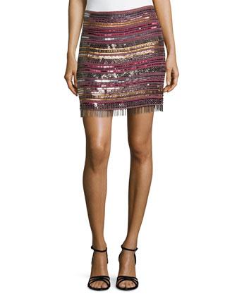 Baba Beaded Fringe Skirt
