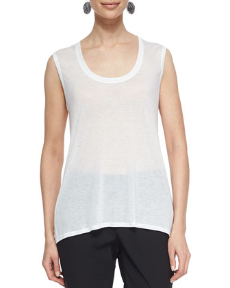 Sleeveless Sheer Jersey Tank