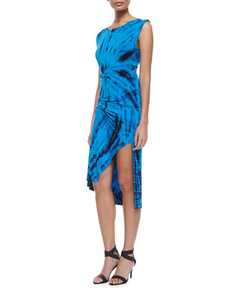 Bryton Tie-Dye Asymmetric Dress