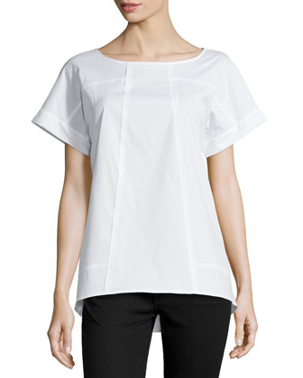 Deryn Short-Sleeve Top, White