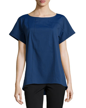 Deryn Short-Sleeve Top, Luna