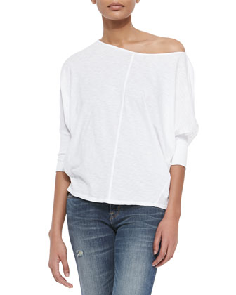 Three-Quarter Sleeve Slub Tee
