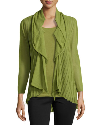 3/4-Sleeve Open Cardigan
