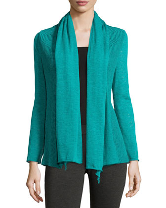 Wave-Textured Cardigan