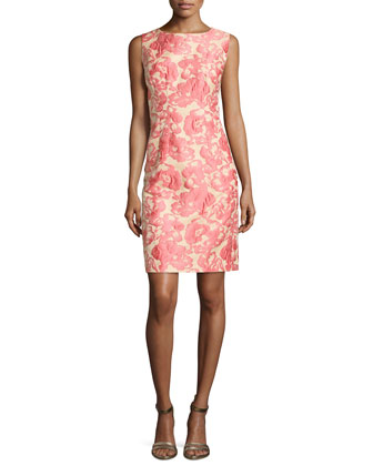 Evelyn Embroidered Floral Sleeveless Dress