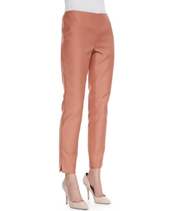 Stanton Straight-Leg Ankle Pants, Adobe