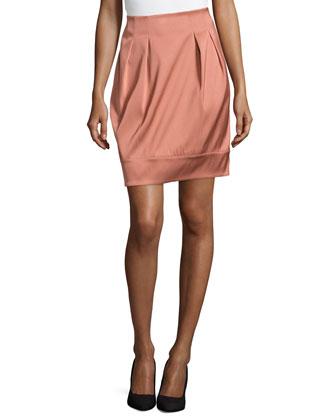 Jackie Pleated Short Skirt, Adobe