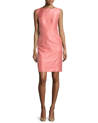 Evelyn Sleeveless Silk Sheath Dress