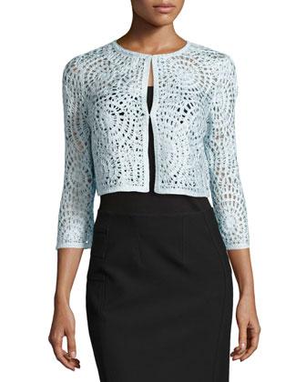 3/4-Sleeve Arlo Crochet Jacket