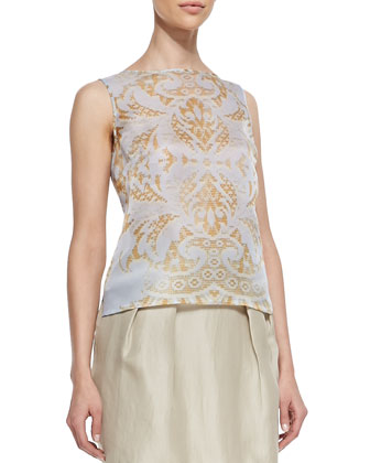 Maddie Sleeveless Damask Top
