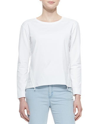 Long-Sleeve Two-Zip-Front Top
