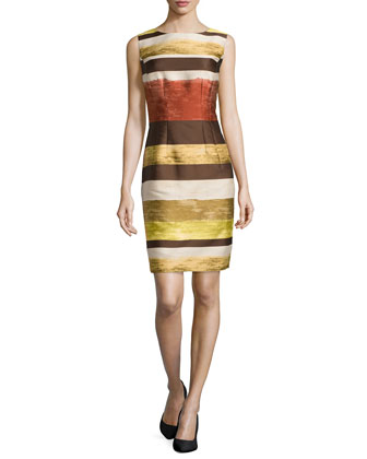 Evelyn Striped Sheath Dress
