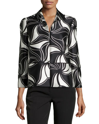 Bellene Printed 3/4-Sleeve Short Jacket