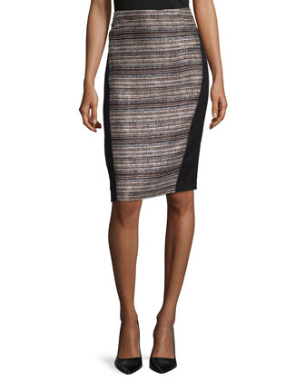 Ariella Paneled Pencil Skirt