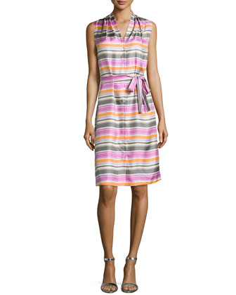 Gia Striped Shirtdress
