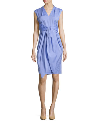 Corrine Tie-Waist Dress, Lilac