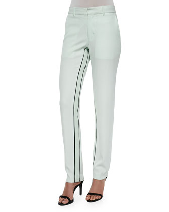 Moodie Crepe Trousers, Ceramic Green